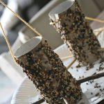 DIY – Eine Vogelfutter – Stelle für Vögel aus Klorollen