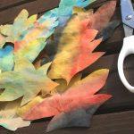Herbstzauber mit Tusche und Kaffeefilter – Wir basteln für den Herbst