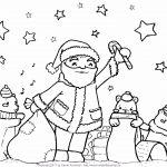 In der Weihnachtswerkstatt – Ein Ausmalbild zur Weihnachtszeit