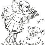 Die kleine Elfe Elsa… Wer wohnt da hinter der Elfentür? #Ausmalbild