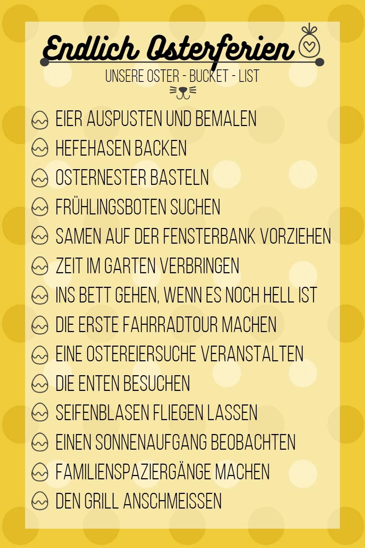 Oster - Bucket - List