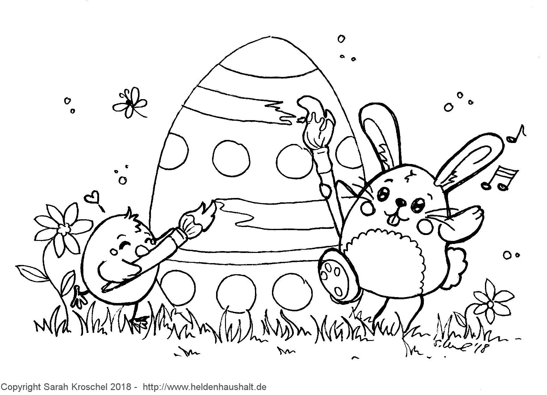 Ei feel good! - Wir wünschen frohe Ostern! #Ausmalbild - Heldenhaushalt