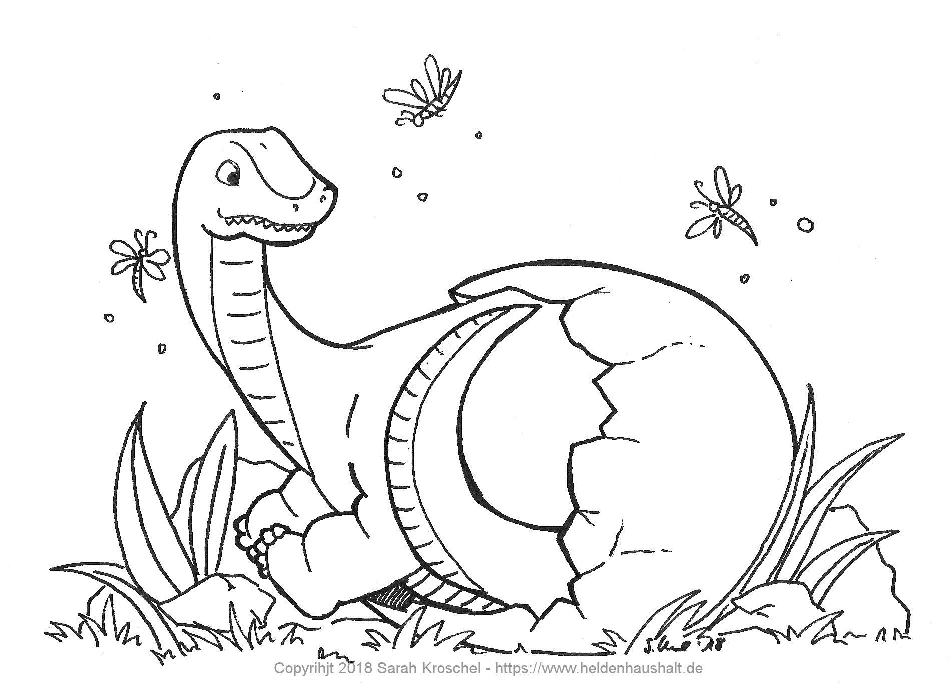 Auf Den Spuren Der Dinosaurier Lust Auf Ein Ausmalbild Heldenhaushalt
