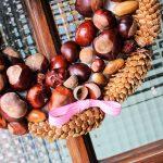 Ein herbstlicher Türkranz aus Herbstschätzen #DIY