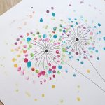 Kreativ mit Kindern – Pusteblumen mit Fingerabdrücken