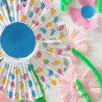 Basteln mit Kindern – Eine Blume aus Muffin – Förmchen