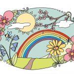 Was gehört für euch zum Frühling? #Ausmalbild