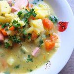 Heldenküche – Kartoffelsuppe mit Bockwürstchen