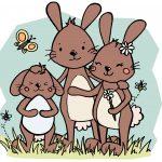 Hallo Hasenfamilie – Seid ihr schon in Osterstimmung? #Ausmalbild