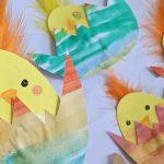 Creadienstag – Das Küken im Ei (Basteln mit Tusche und Papier)
