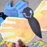 Creadienstag – Schmetterlinge aus Handabdrücken