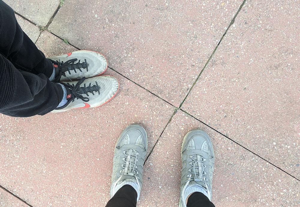 Laufen mit Sohnemann