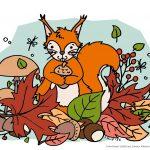 (Creadienstag) – Herbstliebe – Ein Ausmalbild #Freebie