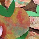 DIY für Kinder – Apfel-Fensterbilder aus Kaffeefilter