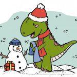 Creadienstag – Ein Dino im Winter? #Ausmalbild