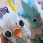 Kreativ mit Kindern –  DIY Osterkörbchen aus Saftflaschen
