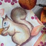 Herbstanfang und Eichhörnchen-Gespräche #Aquarell