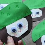 Basteln mit Kindern – Niedliche Kastanien aus bunter Pappe